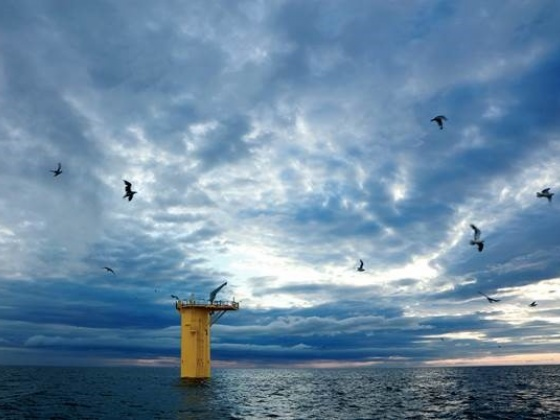 Construction milestone for pioneering offshore windfarm
