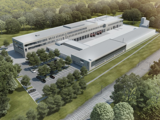 Artists impression Emergency Services Centre in Leverkusen, Germany