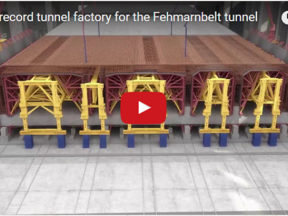 World record tunnel factory for the Fehmarnbelt tunnel