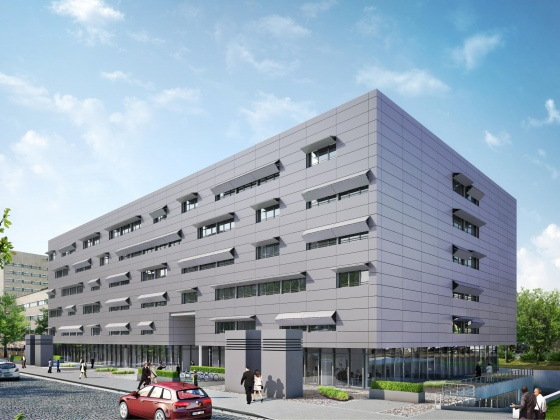 Artist's impression of the laboratory and research building for the Centre for Molecular Medicine Cologne (ZMMK).