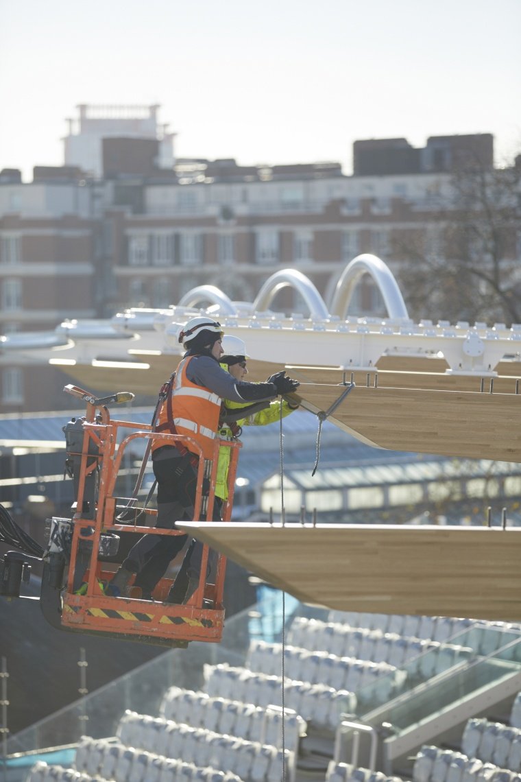 Firms across the UK have worked on the new stand at Lord's says contractor