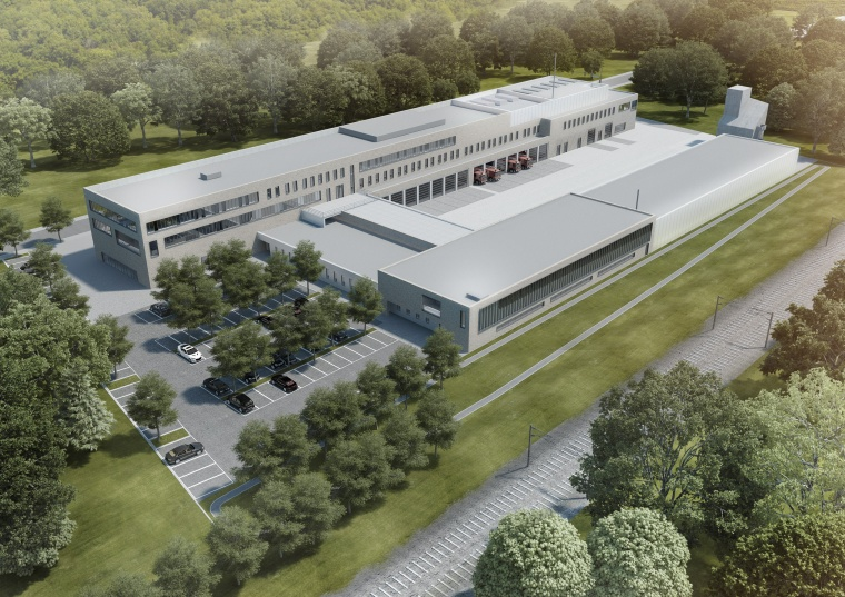 Artists impression brandweerkazerne Leverkusen