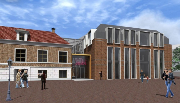 Artists impression Stadhuis Wageningen