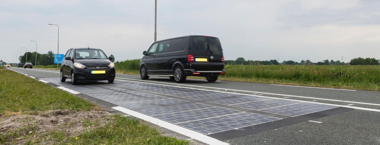 Wattway: solar panels on road surfaces