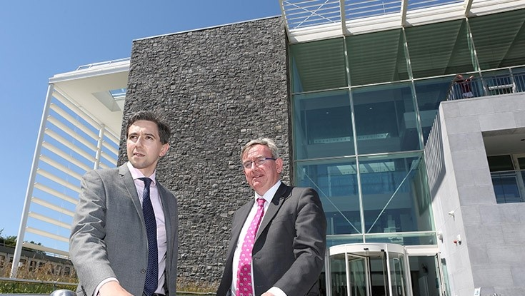 Minister for Health, Mr Simon Harris TD (left) and NUI Galway President, Professor Ciarán Ó hÓgartaigh.