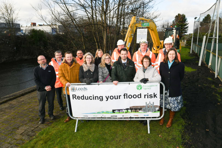 Work starts on next phase of project to reduce flood risk in Leeds