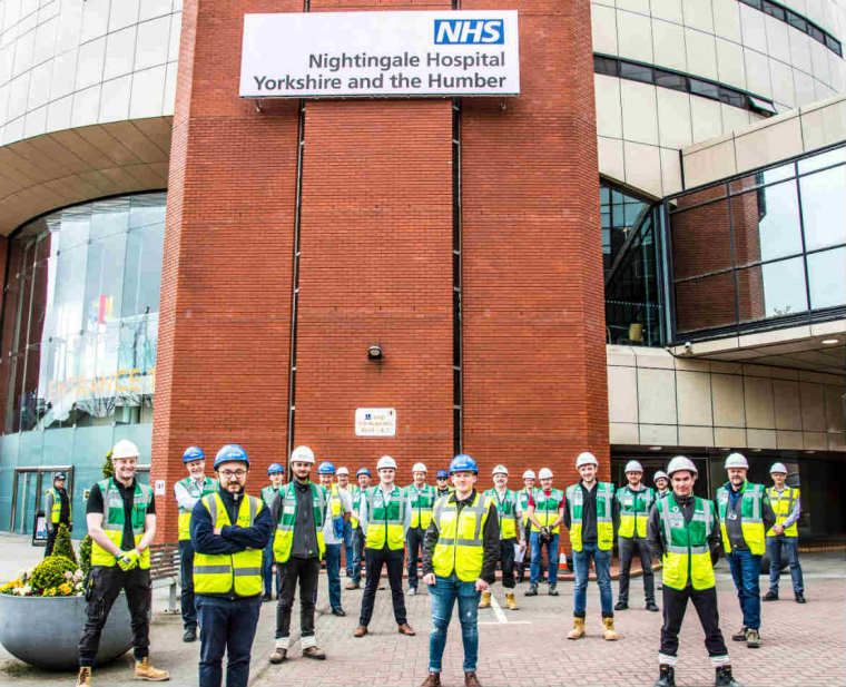 BAM hands over new NHS Nightingale Hospital Yorkshire and the Humber