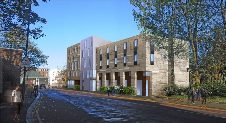 Artists impression student accommodation Clarence Street