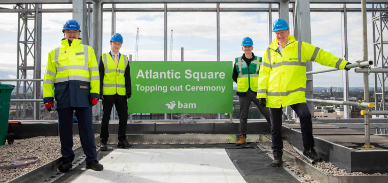 Atlantic Square Topping out Ceremony