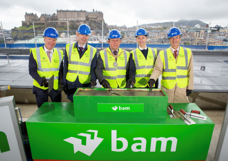 Topping out celebrations at Edinburgh's Capital Square