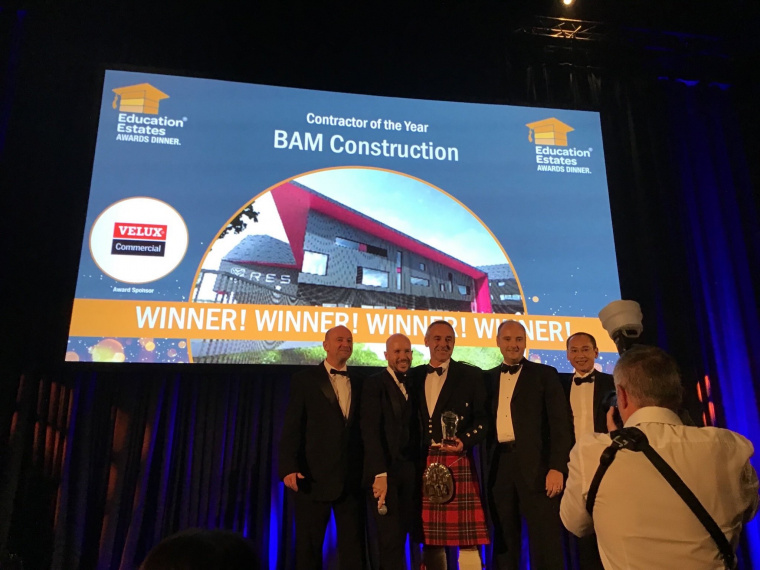 BAM Construction is Contractor of the Year at the Education Estates Annual Conference