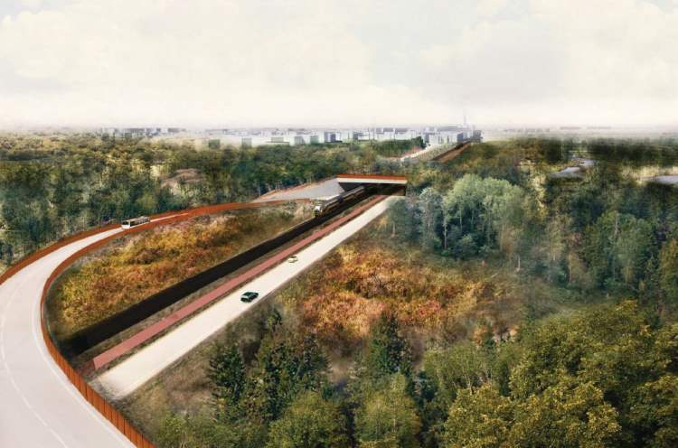 Artist's impression fly-over