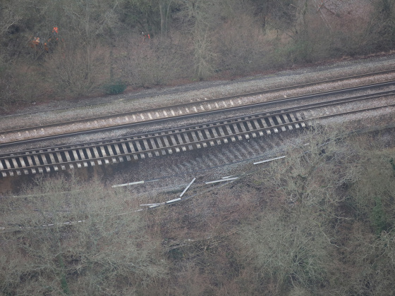 Redhill-Tonbridge railway to reopen by the end of March as Network Rail starts work repairing massive landslip