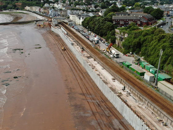 Another brick in the wall – key milestone reached in Dawlish