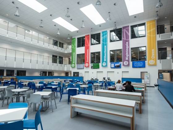 Interior Wolfreton High School, Hull. This scheme was built by BAM under the current ESFA national framework.