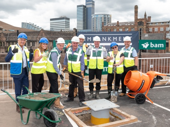 100 reasons to celebrate as work begins at 100 Embankment