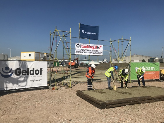 Consortium Geldof and BAM Contractors nv builds one of the largest propane tanks in Europe