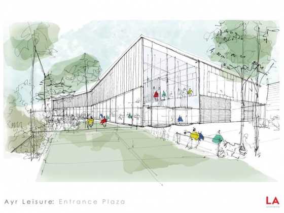 hub South West and contractor, BAM, set to revive Ayr town centre with construction of new leisure facility