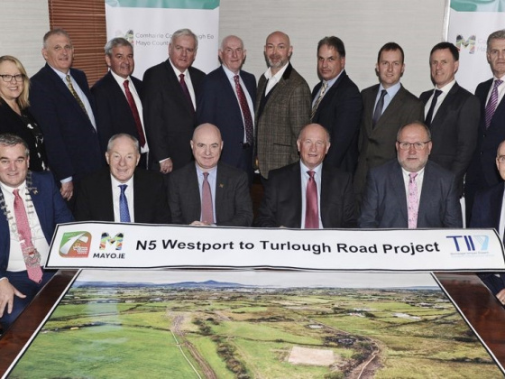 Contracts are signed for the largest infrastructural investment in County Mayo
