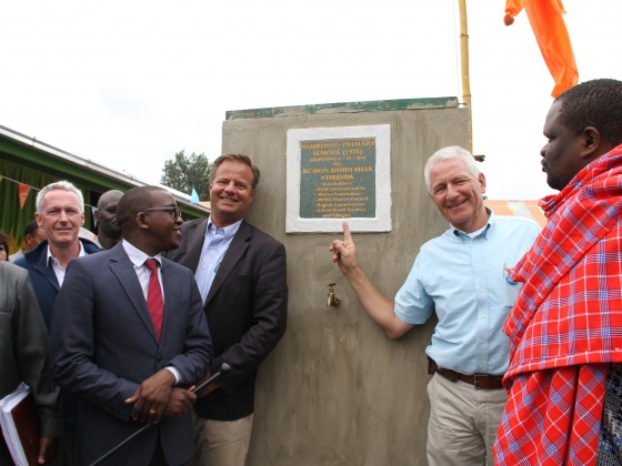Official opening of the Ngurdoto primary school in Tanzania