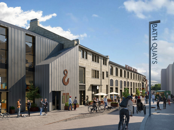 Artist's impression Bath Quays
