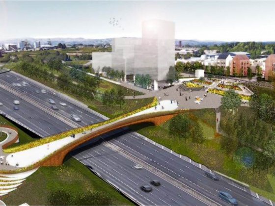 Artist's impression Sighthill M8 bridge