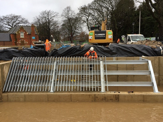 Major milestone achieved in Teesside flood scheme