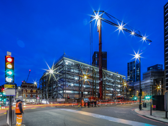 BAM in full contract at Central House in London following 18 months of enabling works