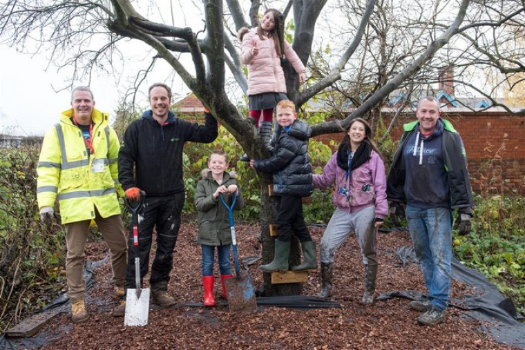 Construction company help create forest school at local primary