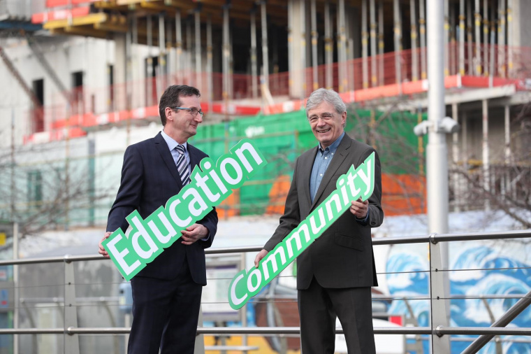 Denis McCarthy, director BAM Ireland, and Gordon Jeyes, Independent Chair of the Community Benefit Oversight Group. Picture: Conor McCabe Photography.