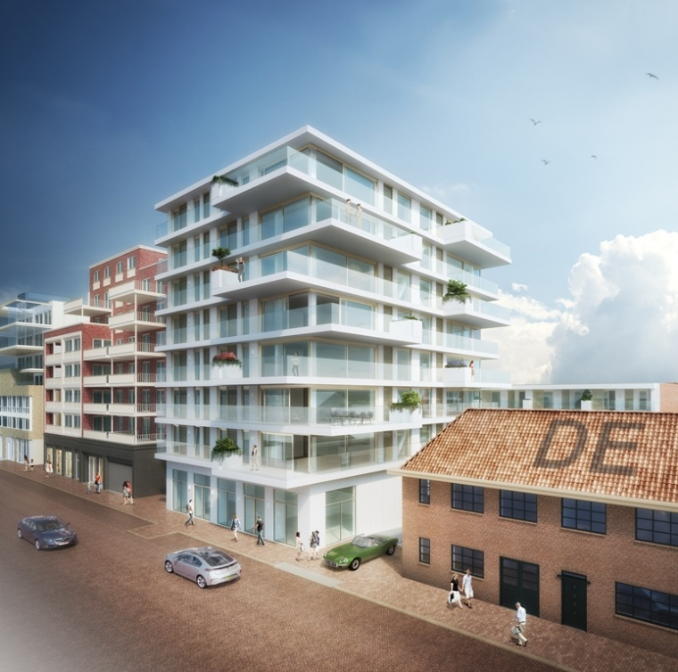Artists impression Coolhouse toren in Scheveningen