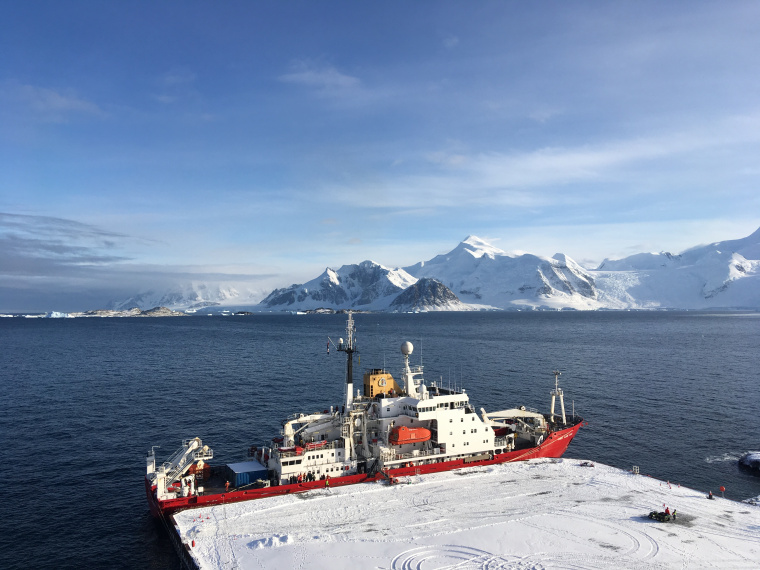 New Antarctic wharf ready for the RRS Sir David Attenborough