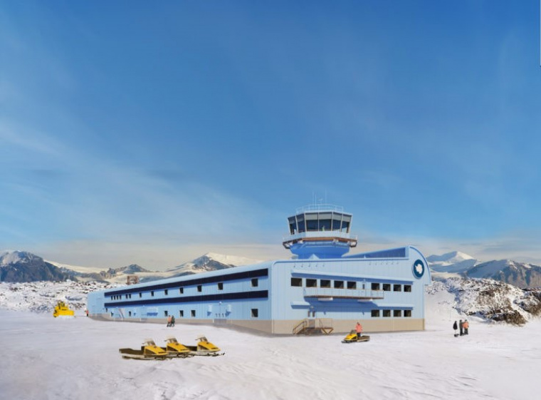 Rothera Research Station, Summer View © Hugh Broughton Architects