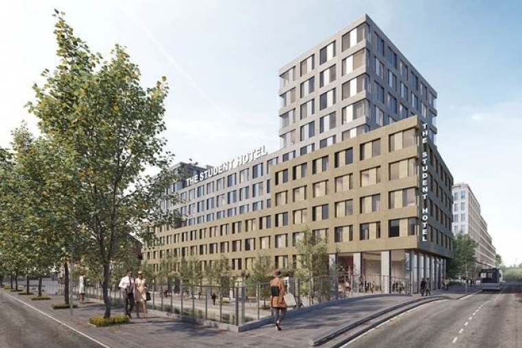 Artist's impression van the Student Hotel