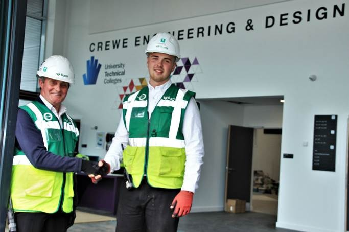 Crewe Utc Contractors Celebrate The Old And The Young As Project Team Departs Bam International